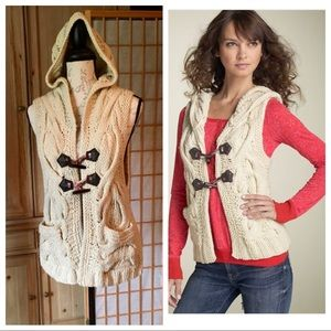 Free People Amazing Aran Twisted Cable Knit Vest M